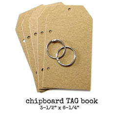 chipboard tag book