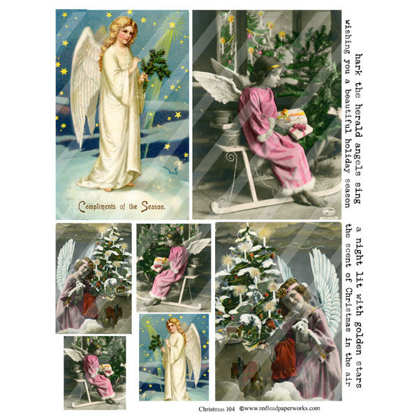 Christmas Collage Sheet 104 Angels
