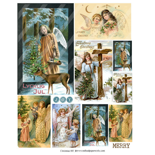 Christmas Collage Sheet 105 Angels