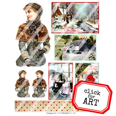 Christmas Collage Sheet 132
