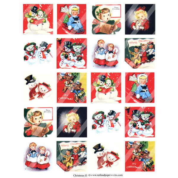 Christmas Collage Sheet 13