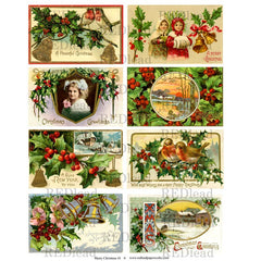 Christmas Collage Sheet 41