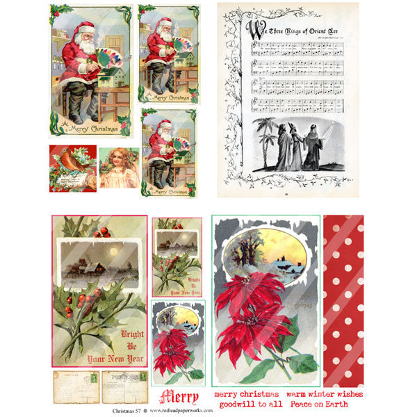 Christmas Collage Sheet 57