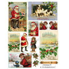 Christmas Collage Sheet 59