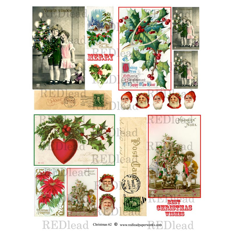 Christmas Collage Sheet #62