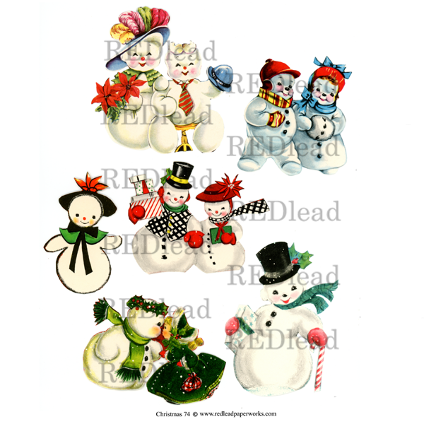 Christmas Collage Sheet 74