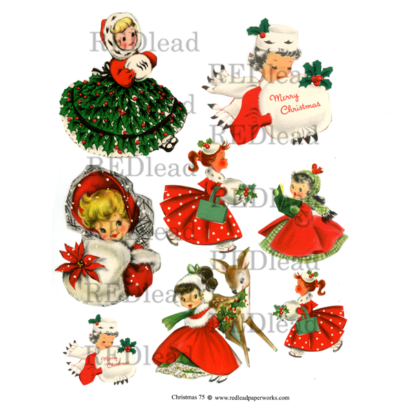 Christmas Collage Sheet 75