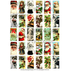 Christmas Collage Sheet 80 - Rectangle Pendant