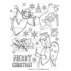 vintage angel coloring pages