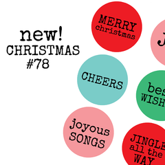 Christmas Collage Sheet 78  Word Circles