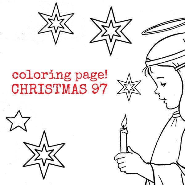 vintage christmas coloring pages