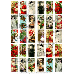 Christmas Collage Sheet 81 - Rectangle Pendant