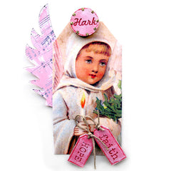 Christmas Collage Sheet 94 - Angel Tags