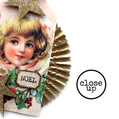 Christmas Collage Sheet 95 Angel Tags