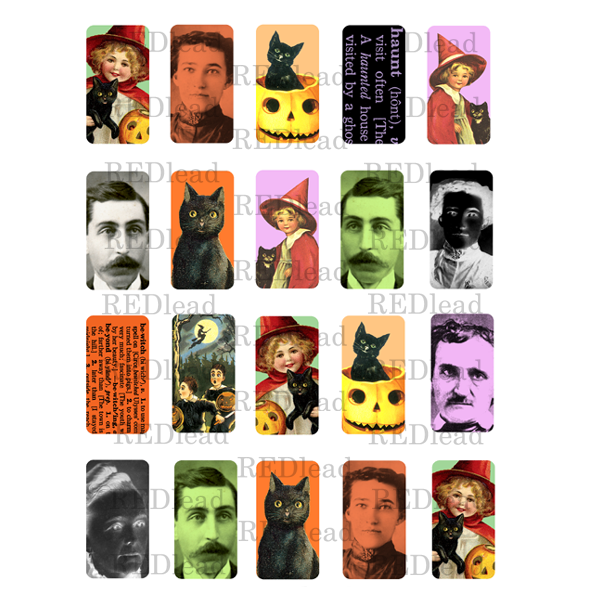 Domino Collage Sheet - Halloween 37