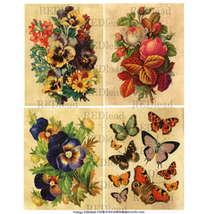 Collage Sheet Vintage Elements 154