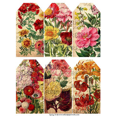 Collage Sheet Spring 35 Floral Tags