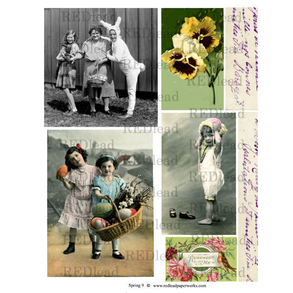 Spring and Easter Collage Sheet 9
