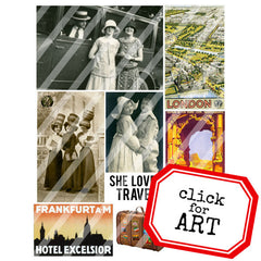 Vintage Elements 205 Travel Collage Sheet