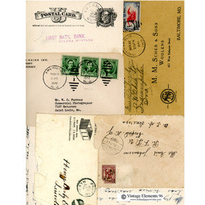 Collage Sheet - Vintage Elements 96 - Envelope Collection