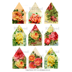 Vintage Elements 146 Collage Sheet - Rose Houses