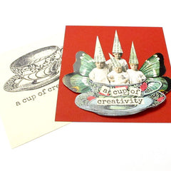 A Cup of Creativity Rubber Stamp Save 20%