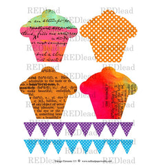 Cupcakes 4 Collage Sheet