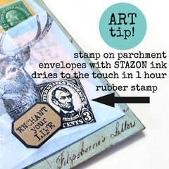 rubber stamping art tip and technique