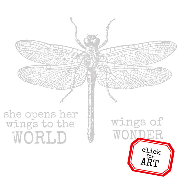 Large Dragonfly Rubber Stamp