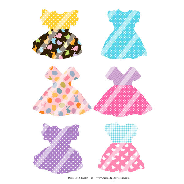 Easter Dresses Collage Sheet 13