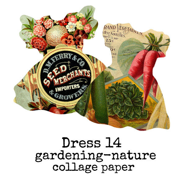 Collage Sheet Dress 14 Gardening