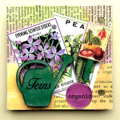vintage seed packet collage sheets