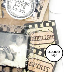 Film Strip Photo Frame Rubber Stamp Save 15%