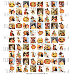 Halloween Collage Sheet 18