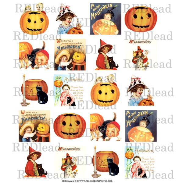 Halloween Collage Sheet 8