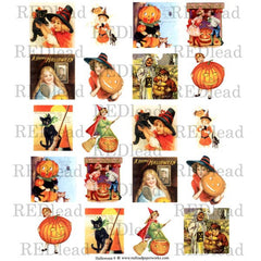 Halloween Collage Sheet 9