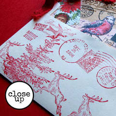 close up Christmas Stamped Envelope