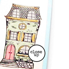 Home Sweet Home Petite Rubber Stamp