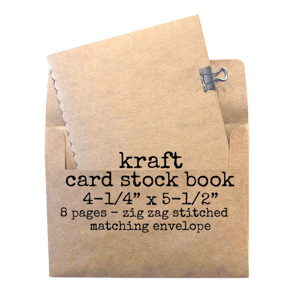 "Kraft Card Stock Stitched Book 4-1/4"" x 5-1/2"""