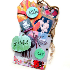 mixed media art tag