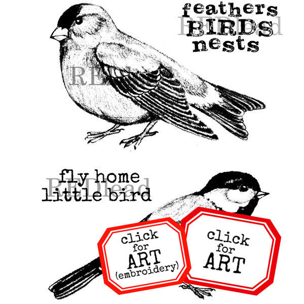 Bird Rubber Stamps