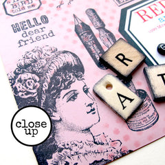 mail art cling mount rubber stamps