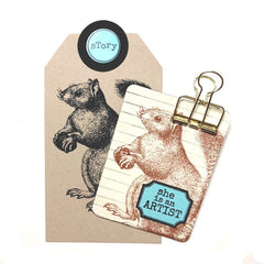 Large Woodland Squirrel Rubber Stamp Save 20%