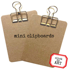 2 Mini Clipboards