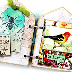 Bees and Birds Rubber Stamp