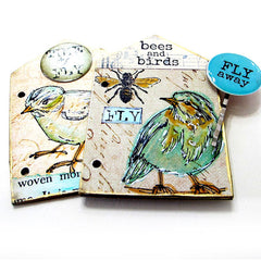 Time To Fly Bird Rubber Stamp