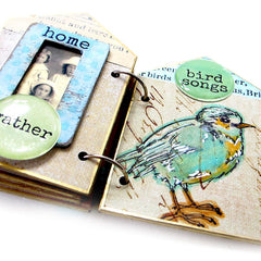 Give Me Wings Bird Rubber Stamp Save 25%