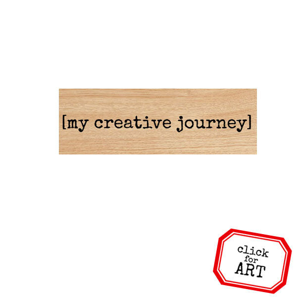 My Creative Journey Wood Mount Rubber Stamp