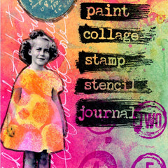Art Journal Rubber Stamp - Paint - Collage - Stamp - Stencil - Journal
