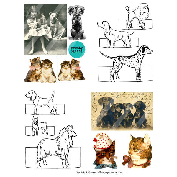 Pet Pals 5 Collage Sheet